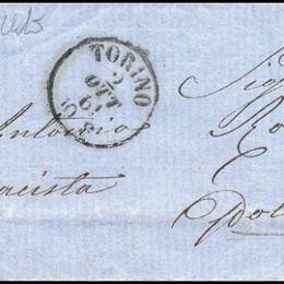 1861 Sardegna 20c. celeste grigiastro (N°15Db)