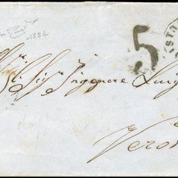 1862 Sardegna 20c. indaco chiaro (N°15Eb)