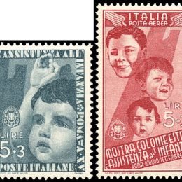 1937 Italia Regno: Colonie Estive (N°406/15+A). s. cpl.