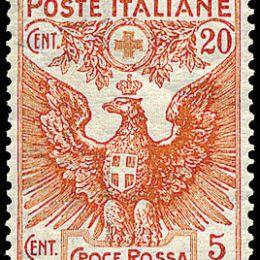 1915 Italia Regno: croce Rossa (N°102/05) s. cpl.