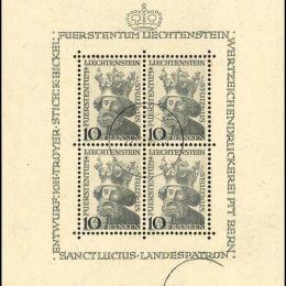 1946 Liechtenstein: Foglietti - S. Lucio (BF6)