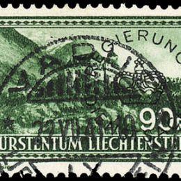 1934 Liechtenstein: Servizio - soprastampati (N°11/12) s. cpl.