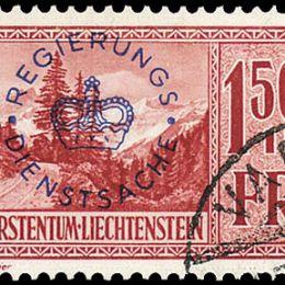 1935 Liechtenstein: Servizio - soprastampati (N°17/19) s. cpl.