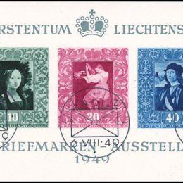 1949 Liechtenstein: Foglietti - esposizione filatelica di Vaduz (BF8)