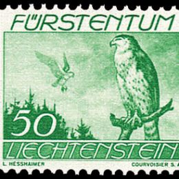 1939 Liechtenstein: Posta Aerea -  volatili diversi (N°17/23) s. cpl.