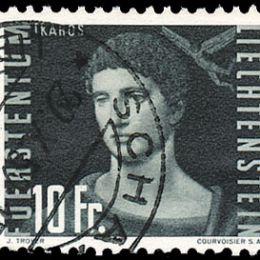 1948 Liechtenstein: Posta Aerea - pionieri vari(N°24/33) s. cpl.