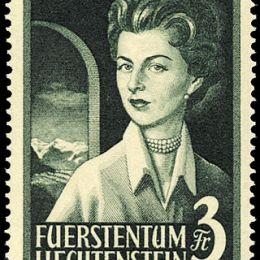 1955 Liechtenstein: effigi dei Principi (N°294/95) s. cpl.