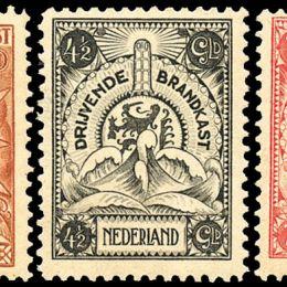 1921 Olanda: francobolli per casseforti galleggianti, soggetti vari (N°1/7) s. cpl.