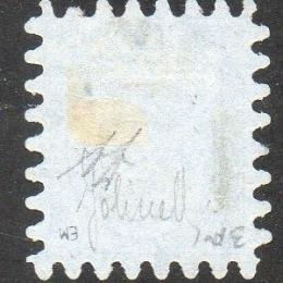 1860 Finlandia: 5k. azzurro su azzurro (N°3B)